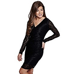 Mela London - Black lace 'Martyna' mini bodycon dress