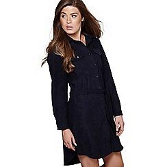Mela London - Navy textured 'Rania' mini shirt dress