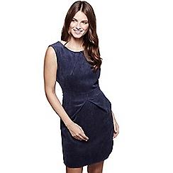 Mela London - Navy corduroy 'Evie-mai' sleeveless pencil dress