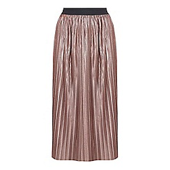 Mela London - Pink metallic midi skirt