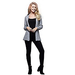 Mela London - Silver weaved knitted cardigan