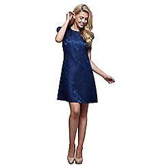 Mela London - Navy floral print 'Jiya' mini tunic dress