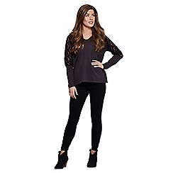 Mela London - Grey lace insert jumper