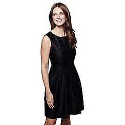 Mela London - Black floral print 'Gwen' mini skater dress