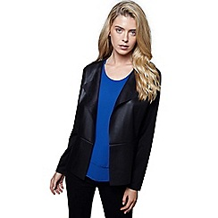 Mela London - Black dual fabric jacket