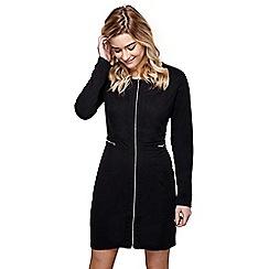 Mela London - Black zip fitted 'Rosanna' mini bodycon dress
