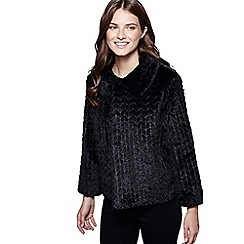 Mela London - Black patterned faux fur jacket