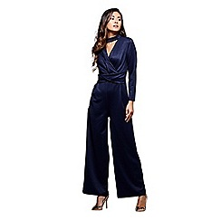Mela London - Blue choker neckline jumpsuit