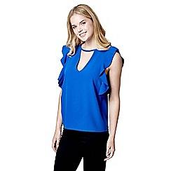 Mela London - Blue ruffle sleeve top