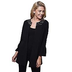 Mela London - Black bell sleeve pearl jacket
