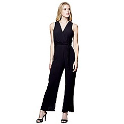 Mela London - Black sleeveless pleated leg jumpsuit