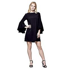 Mela London - Black Tamzin' frilled sleeves mini tunic