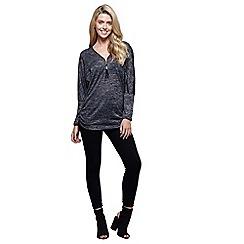 Mela London - Grey batwing zip jumper