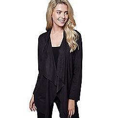 Mela London - Black suedette waterfall jacket