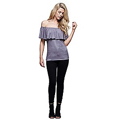 Mela London - Grey suedette bardot top