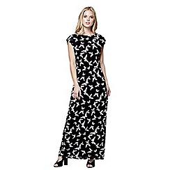 Mela London - Black lace 'Ayra' butterfly maxi dress
