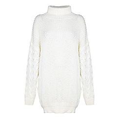 Mela London - Cream knit 'Jia' mini jumper dress