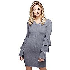 Mela London - Grey ruffle sleeve 'Katrina' bodycon dress