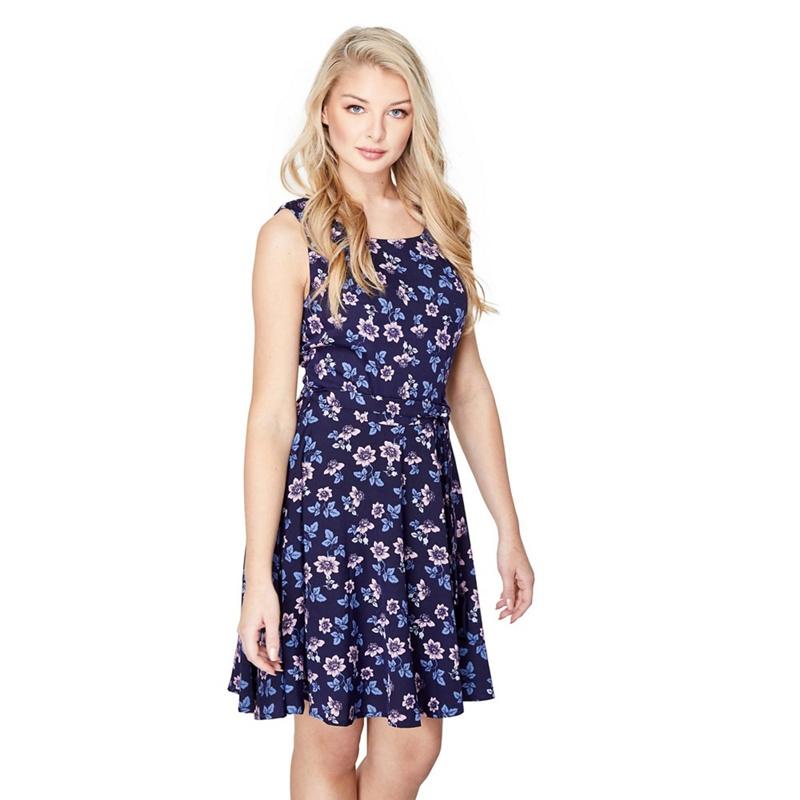 3ed8701d83 Mela London - Navy Floral Print  Melisande  Skater Dress