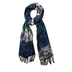 Yumi - Multicoloured  rose floral print winter scarf