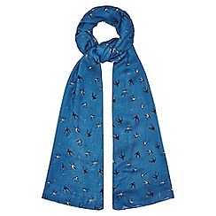 Yumi - Blue Swallow Printed Scarf