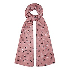 Yumi - Cream Swallow Printed Scarf