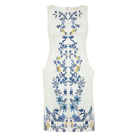 Uttam Boutique - White Mirror willow print dress