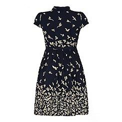 Uttam Boutique - Bird print shirt dress