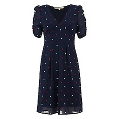 Uttam Boutique - Red Spotty dress