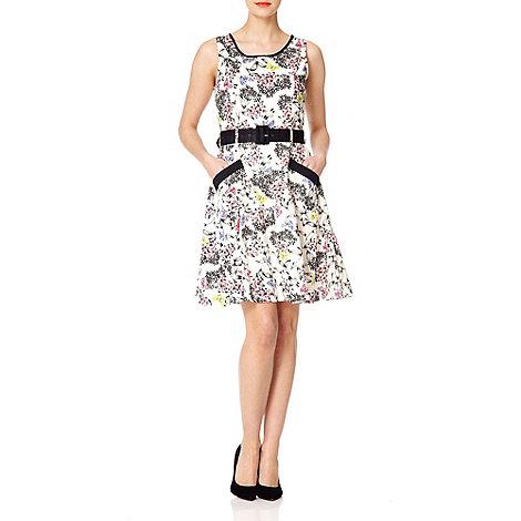 Uttam Boutique - White Butterfly garden dress