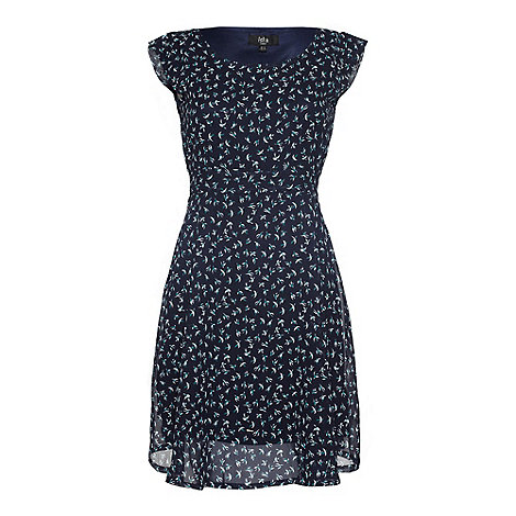 Iska - Navy Bird print dress