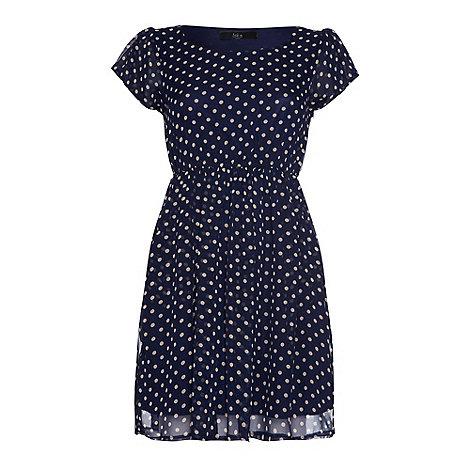 Iska - Blue Polka dot pocket dress