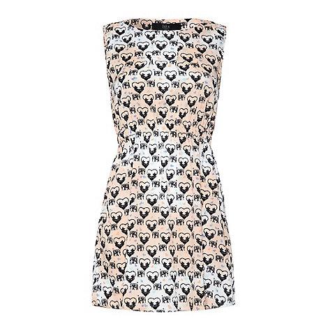 Iska - Grey Heart print dress