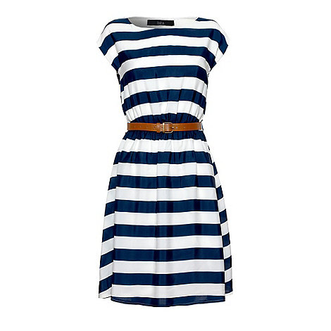 Iska - Navy Nautical stripe dress