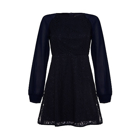 Iska - Navy Floral lace dress