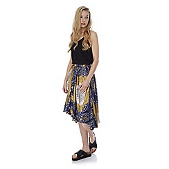 Iska - Blue handkerchief print asymmetric skirt