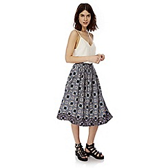 Iska - Multicoloured moroccan print midi skirt