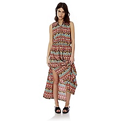Iska - Multicoloured keyhole printed maxi dress