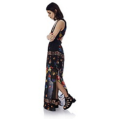 Iska - Black empire line printed maxi dress