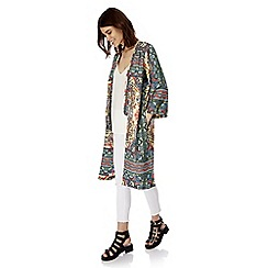 Iska - Multicoloured aztec print long kimono jacket