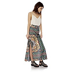 Iska - Multicoloured aztec print maxi skirt