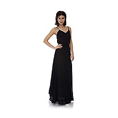 Iska - Black pleat maxi skirt