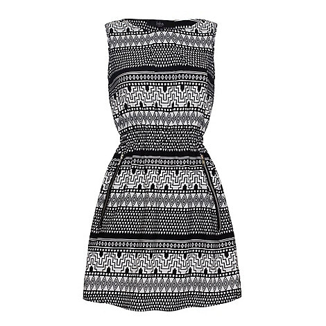 Iska - Tribal print zip dress