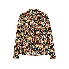 Iska - Multicoloured rose print pussybow blouse