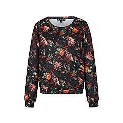 Iska - Multicoloured floral print scuba sweatshirt