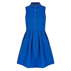 Iska - Blue sleeveless shirt dress