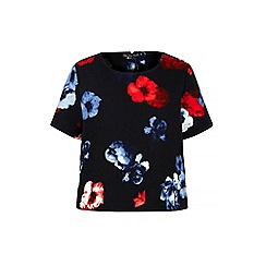 Iska - Black floral print shell top