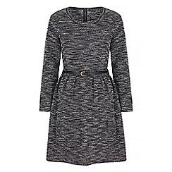 Iska - Black knitted long sleeve dress