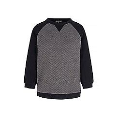 Iska - Grey colour block sweatshirt