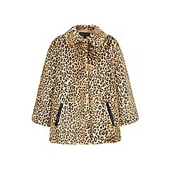 Iska - Brown leopard print faux fur jacket